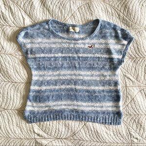 5/$35🍑 HOLLISTER Blue & White Knit T-shirt